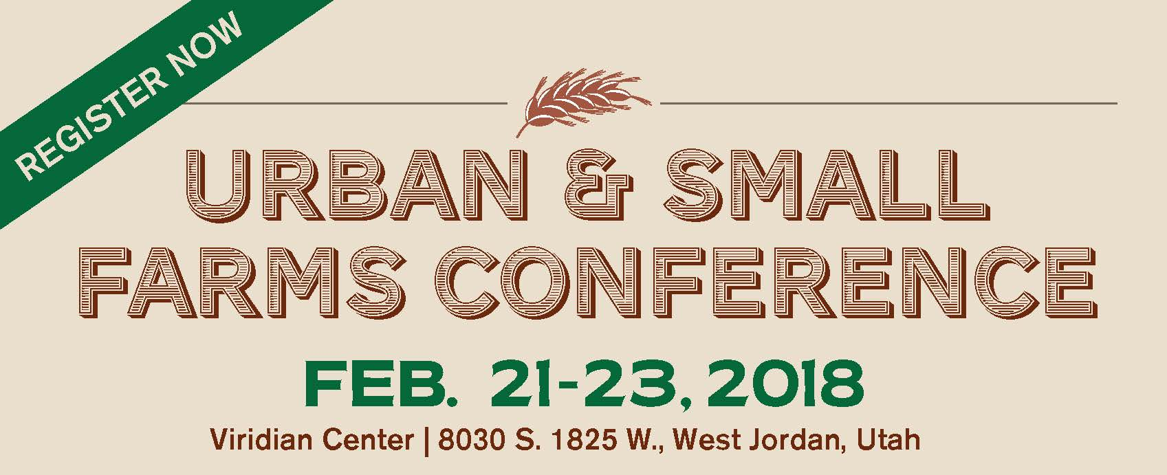 Urban and Small Farms Conference Header